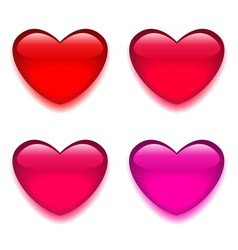 Glass red pink heart vector image