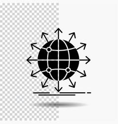 globe network arrow news worldwide glyph icon on vector image