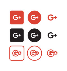 Google plus social media icons vector