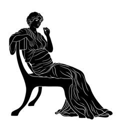 greek women vector image