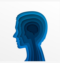 Head of a man and layers vector