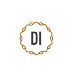 initial letter di elegance creative logo vector image