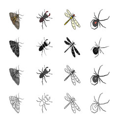 insects useful harmful and other web icon in vector image