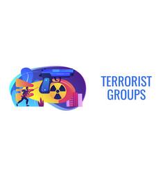 International terrorism concept banner header vector