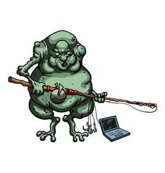 internet troll vector image