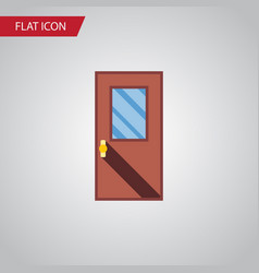 Isolated entrance flat icon door element vector