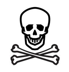Jolly roger logo design template human vector