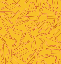 Kitchen Knives Seamless Pattern Background vector