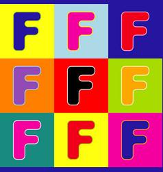 letter f sign design template element pop vector image