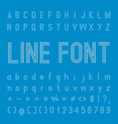 Line Font design vector