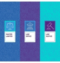 Line Law Justice Patterns Set vector