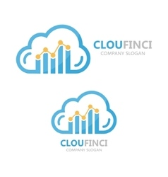 Logo combination of a cloud and financial vector