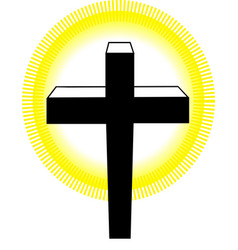 logo of cross vector image