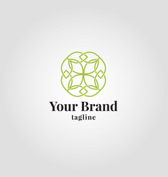 Luxury healty leaf logo template vector
