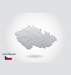 Map czech republic with trendy triangles vector