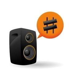 Music design speaker icon Isolated vector image