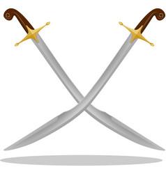 Ottoman turkish scimitar pala kilij sword vector