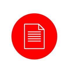paper file folded office outline red icon design vector image