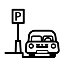 passenger car parked at street side parking place vector image