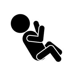 Pictogram of little baby lying vector
