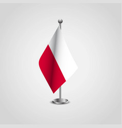 Poland flag pole vector