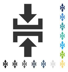 Press vertical direction icon vector