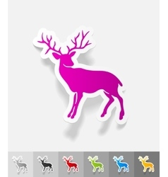 Realistic design element deer vector