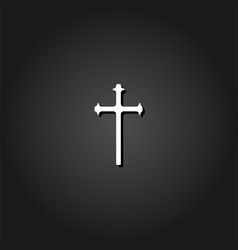 religion cross icon flat vector image