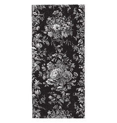 rug is done in a floral design vintage engraving vector image