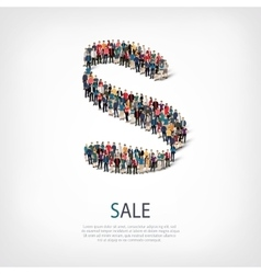 sale people sign 3d vector image
