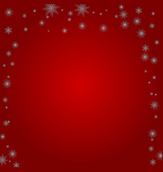 Snowflakes on a red background vector