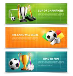 Soccer horizontal banners vector