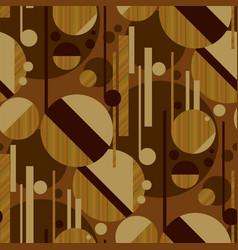 Sophisticated geometric pattern with wood texture vector