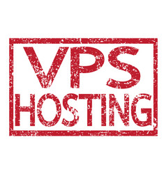 Stamp text vps hosting vector
