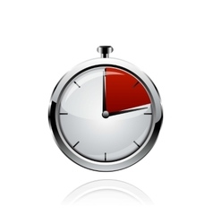 Stop watch realistic vector