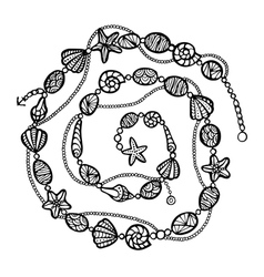 Stylized decoration zentangle vector image