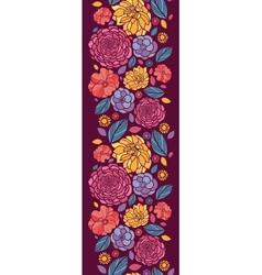 Summer flowers vertical seamless pattern vector image