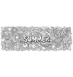 summer hand drawn cartoon doodle vector image
