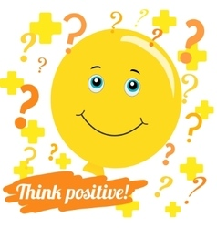 Think positively vector