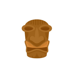Tribal idol tiki icon flat style vector