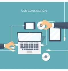 Usb connection Computer vector