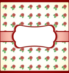 Vintage lace frame with roses vector image