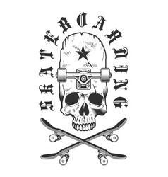 Vintage skateboarding badge vector