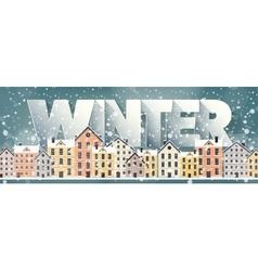 Winter cityscapecity silhouettestown skyline vector