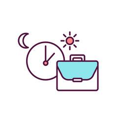 Work schedule rgb color icon vector
