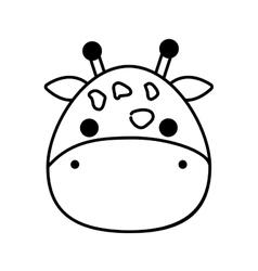 cute giraffe isolated icon vector image