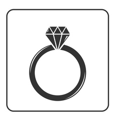 Diamond engagement ring icon 6 vector image vector image