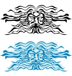 god of the seas vector image