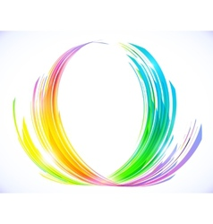 Rainbow colors abstract lotus flower symbol vector image vector image