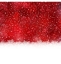 Red white Christmas winter background vector image